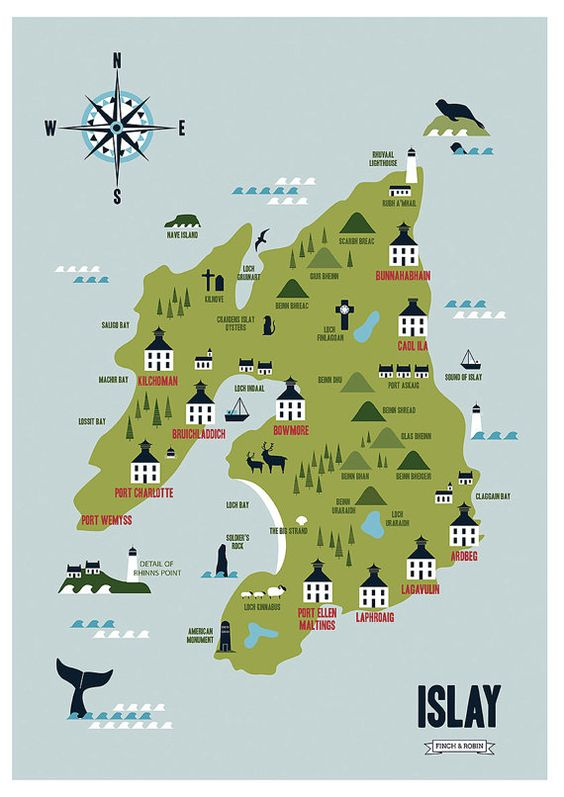 Islay Whisky Distillery Map