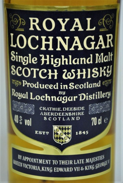 Royal Lochnagar Label