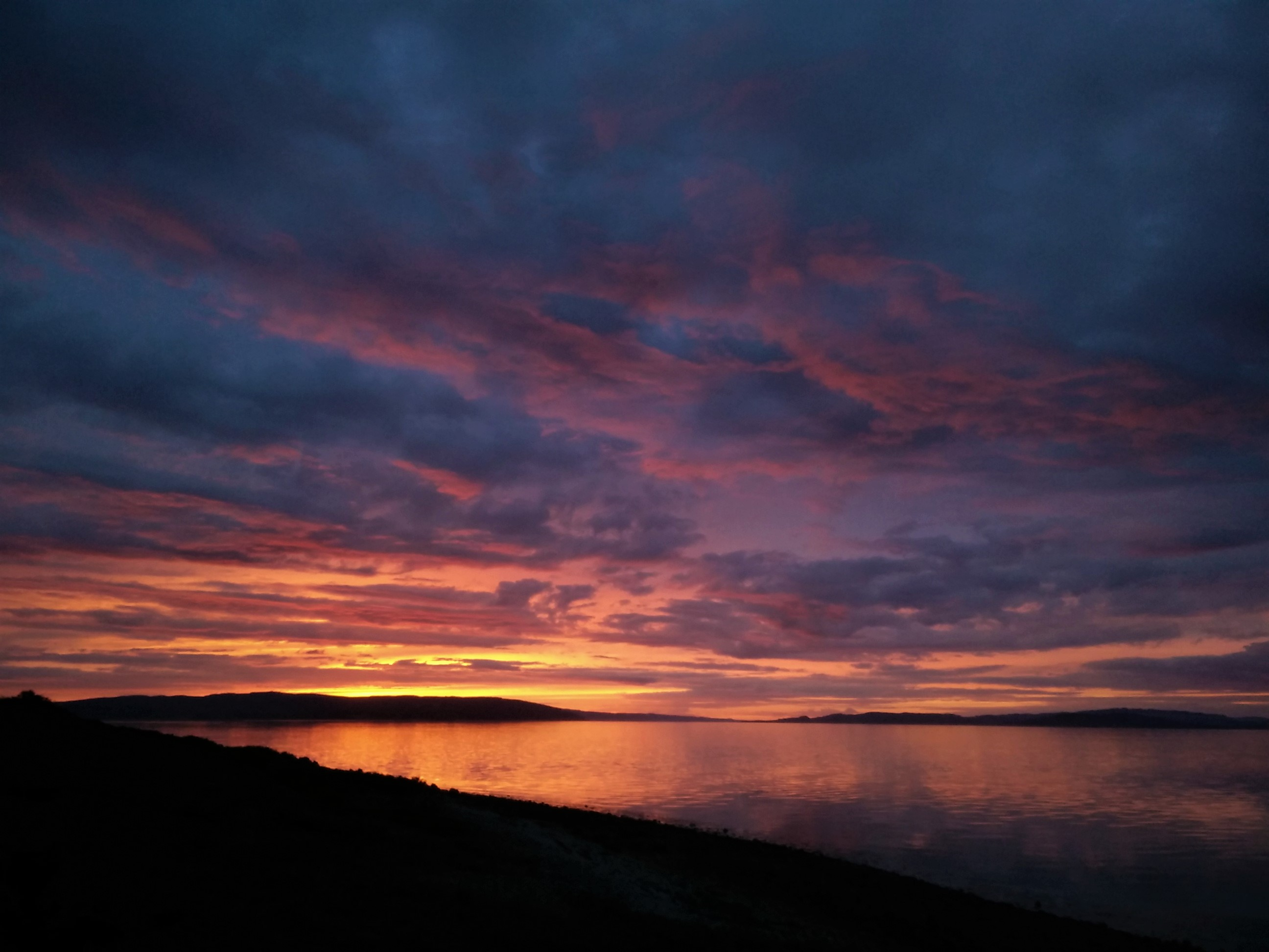 Arran Whisky Walk - Sunset over the Firth of Clyde