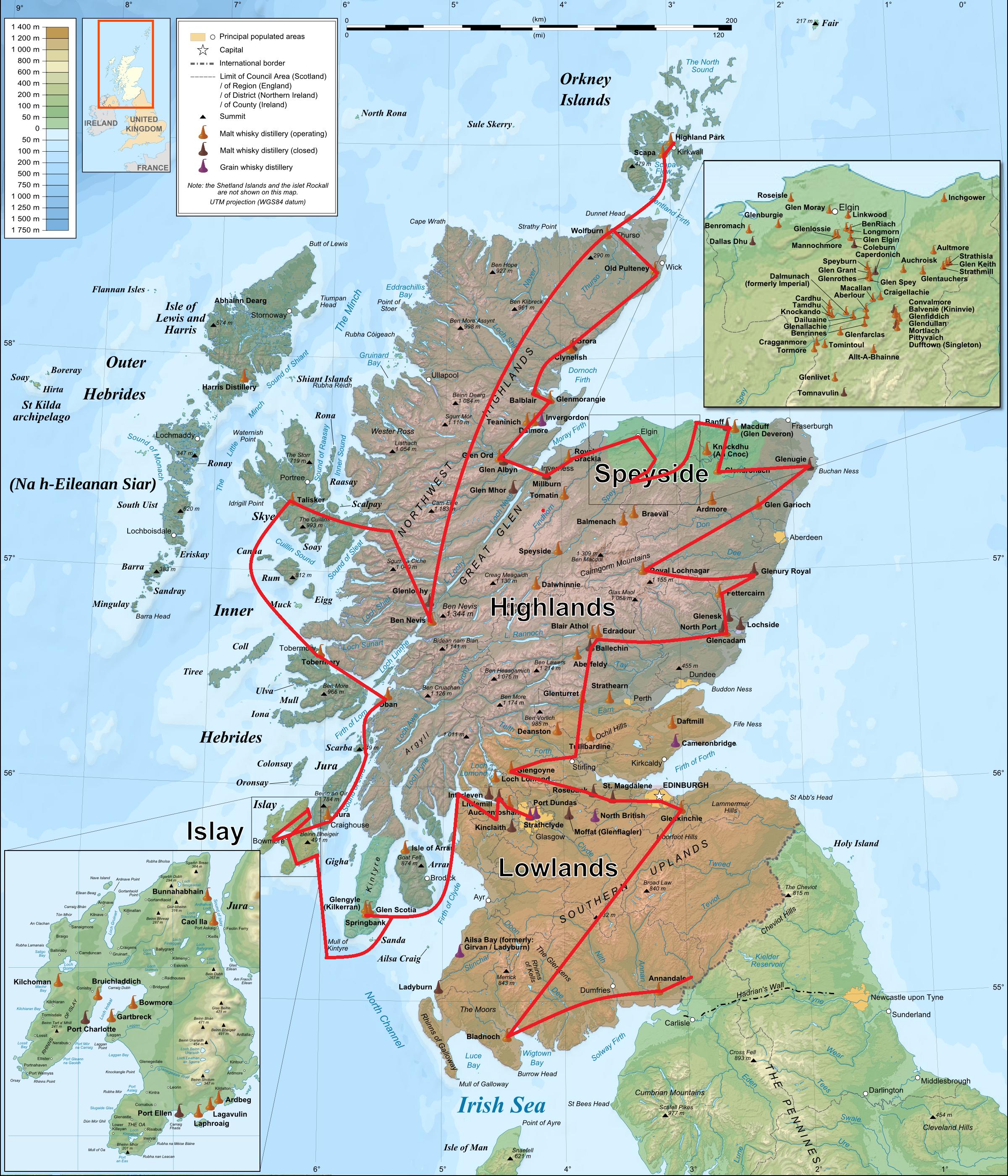 Alfred Barnard - Whisky Map