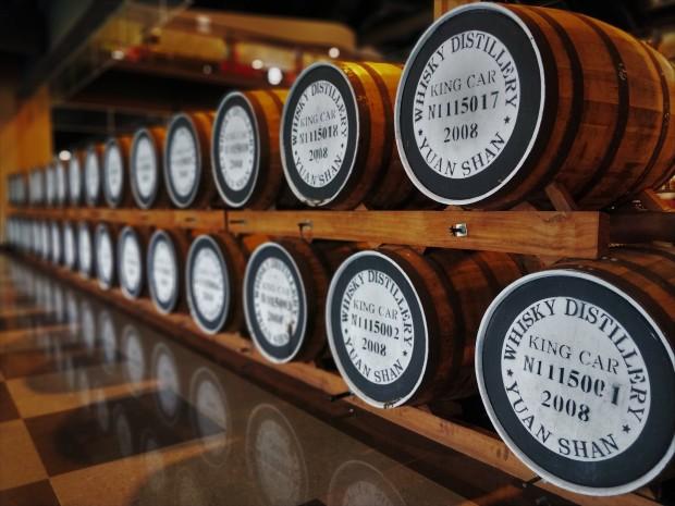 Casks at Kavalan distillery