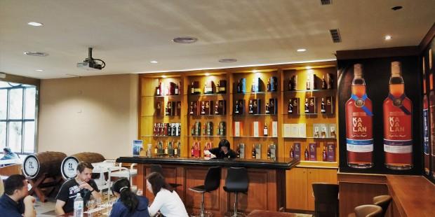 The tasting room at Kavalan distillery