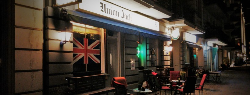 The entrance to Union Jack Whisky Pub